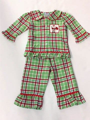 Three Sisters Santa's Toy Bag Smocked PJs