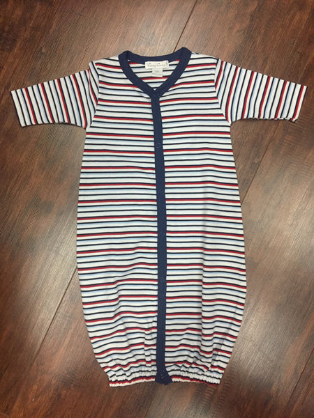 Kissy Kissy Blue Stripe First Responder Convertible Gown