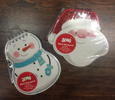 Santa and Snowman Mini Notepad