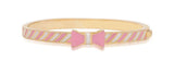 Lily Nily Pink and White Bow Bangle