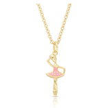 Lily Nily Pink Twirling Ballerina Pendant Necklace