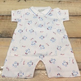 Kissy Kissy Airplane Print Short Playsuit with Collar