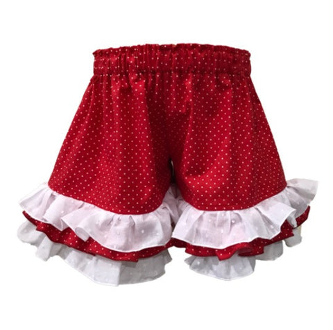 Persnickety Felicity Shorts- Red Tiny Dot