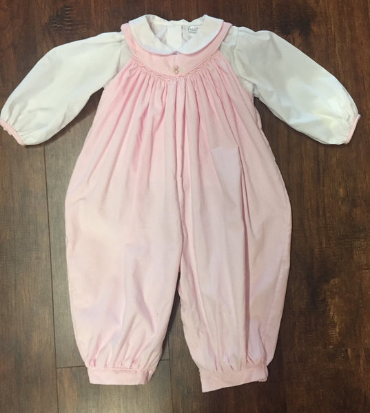 Girls' Corduroy Long Pink Bubble