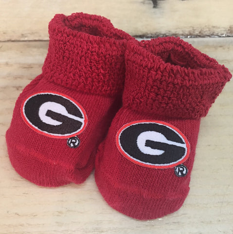 Georgia Red Baby Booties