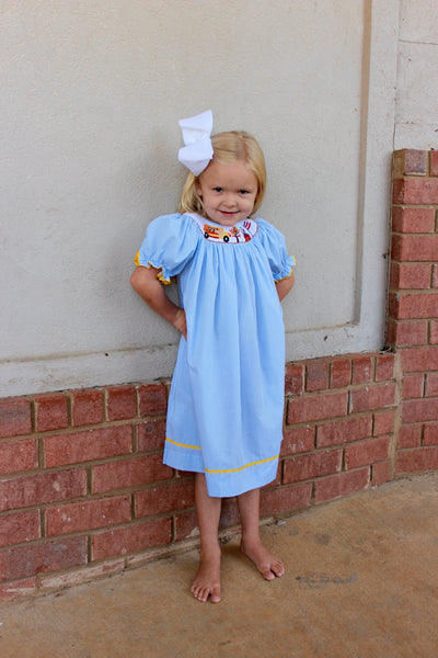 Mom & Me School Smocked Dress