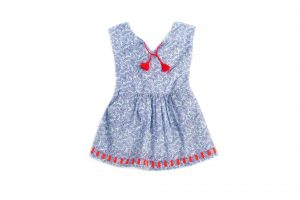 Egg Inez Dress with Tie Front