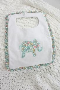 Little English Elephant Liberty Bib