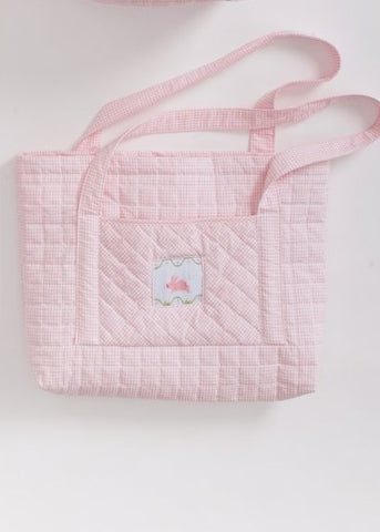 Little English Quilted Bunny Tote