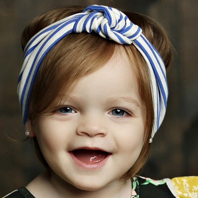 Mustard Pie Blue Stripe Gidget Head Wrap