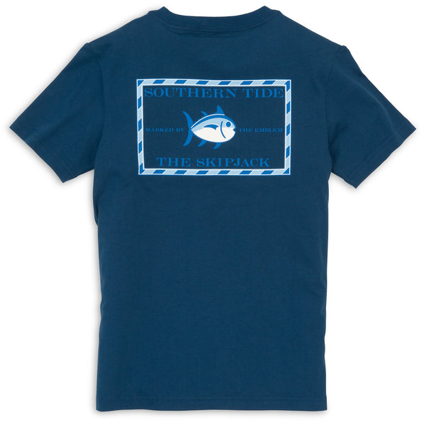Southern Tide Yacht Blue Youth Short Sleeve Skipjack Tee