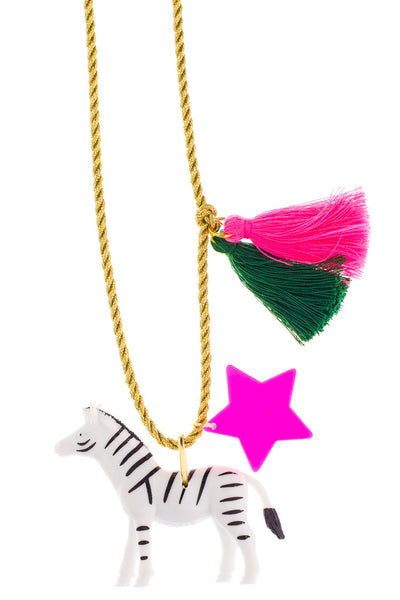 Little Lux Zoe The Zebra Necklace