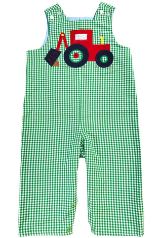Bailey Boys Backhoe Green Plaid Rev. John John