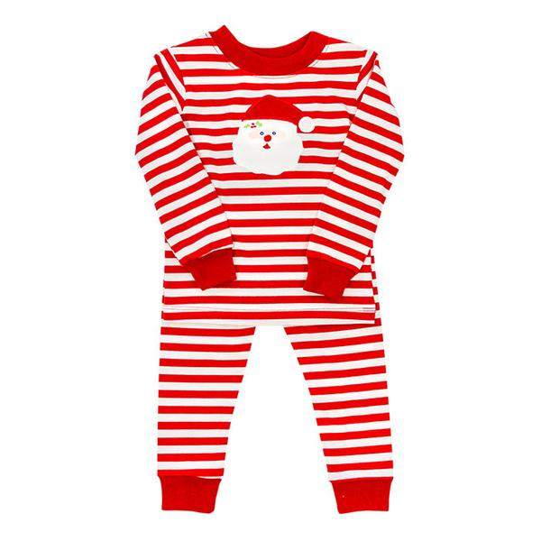 Bailey Boys Red/White Striped Santa Boys Lounge Wear