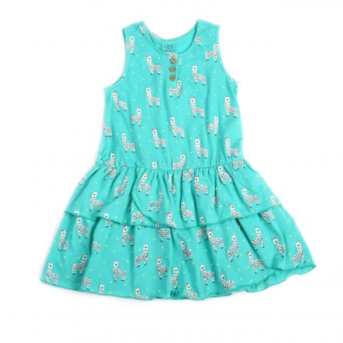 Egg Llama Print Brianna Dress