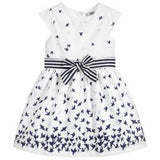 Dr.Kid White with Navy Bird Print Dress