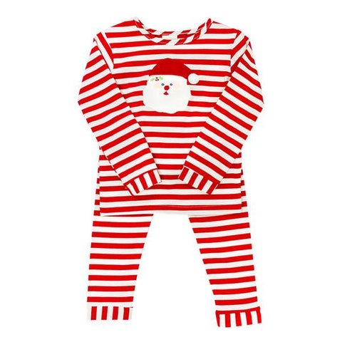 Bailey Boys Red/White Striped Santa Girls Lounge Wear