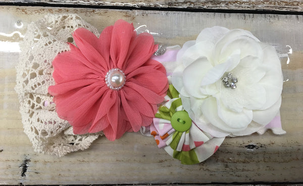 Girls' Vintage Floral Headband