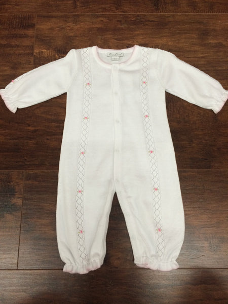 Kissy Kissy Knit Onesie With Rose Detail