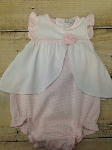 Kissy Kissy Pink Baby Gingham Bubble