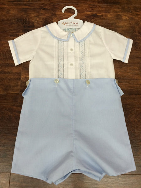 Feltman Brothers Blue And White Bobby Suit