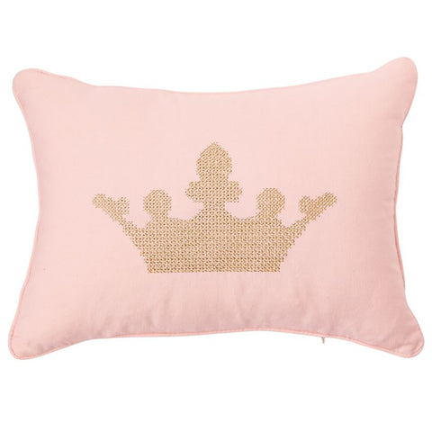 Mud Pie Crown Pillow