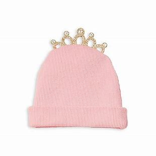 Mud Pie Golden Crown Newborn Cap