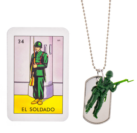 Little Lux Soldier Necklace With ID Tag (Figures may vary)