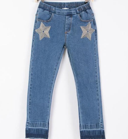 Tween Star Embroidered Denim Jeans