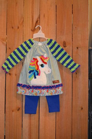 Millie Jay Unicorn Applique Legging Set