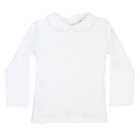 Bailey Boys White Long Sleeve Knit Girls' Blouse