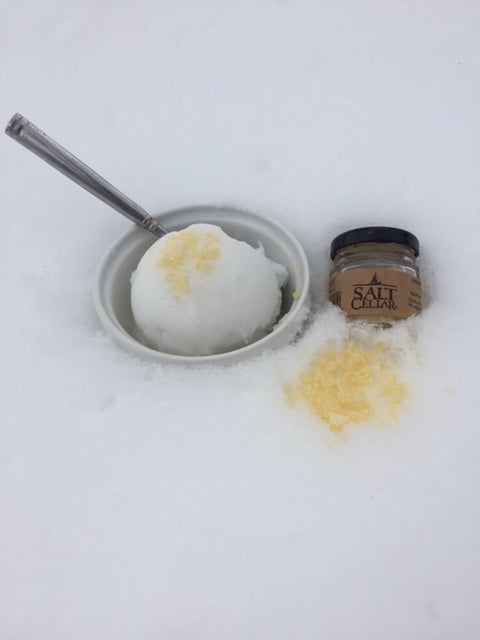 Easy Snow Ice Cream with Lemon Salt