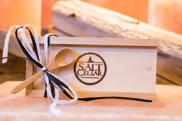 Three Icelandic Sea Salts in a Cedar Box
