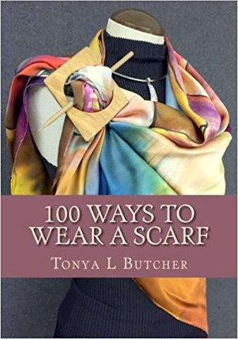 "You can now order my book ""100 Ways To Wear A Scarf"""