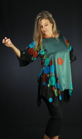 hand painted silk blouse by tonya butcher