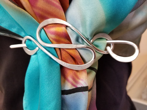 Curves Scarf Pin - Handmade by Tonya Butcher