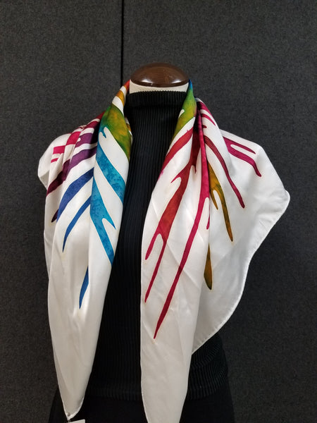 Paint Party - Hand Painted Silk Scarf