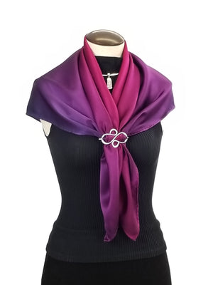 Pretty in Pink - Hand Painted Silk Scarf / Wrap