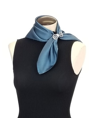 Sky blue - Hand Painted Silk Scarf