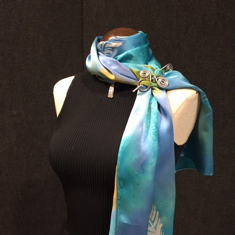 Videos how to wear scarves silks by tonya video 60 elegant neck wrap w scarf pin download video ccuart Gallery