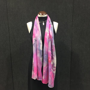 Pink Fury - Hand Painted Silk Scarf