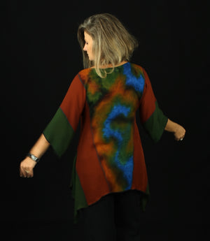 Summer Bliss - Hand Painted Silk Blouse