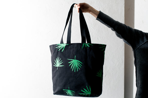 Palm Canvas Shopper