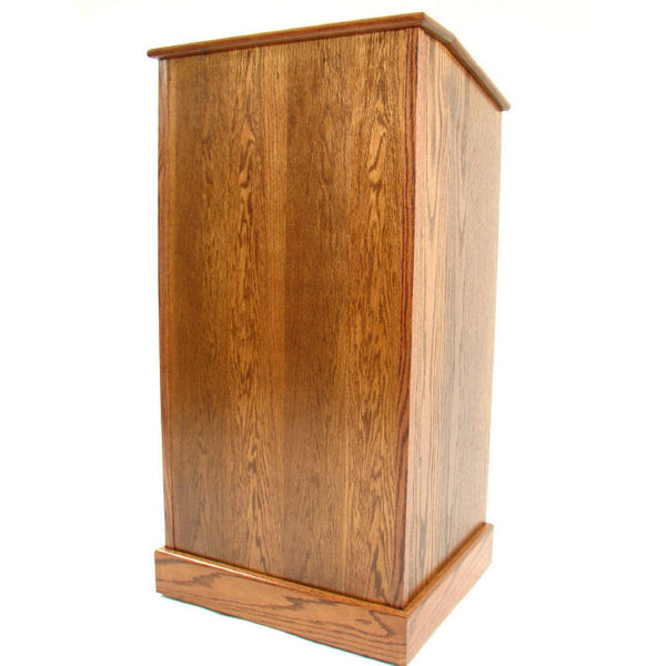 Oak Graduate Lectern With Wheels By Executive Wood