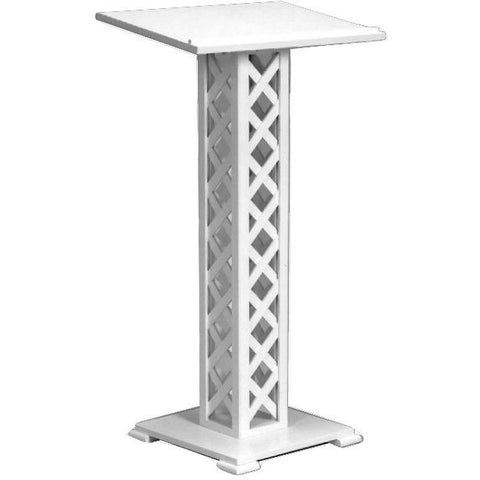 white lattice guest book stand lectern buy online at podiumstopcom