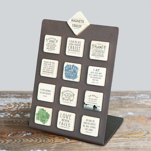 tumbled marble magnets with bible verses