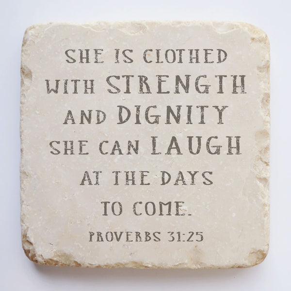 546N | Proverbs 31:25 - Twelve Stone Art