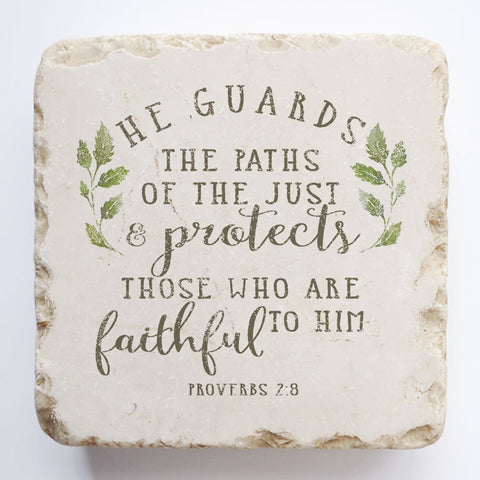 552 | Proverbs 2:8 - Twelve Stone Art