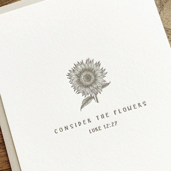 Sunflower | Luke 12:27 - Twelve Stone Art