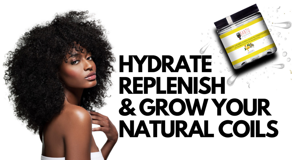 Bantu Coils Natural Hair Products - Leave In Conditioner to Hydrate and Grow Natural Hair